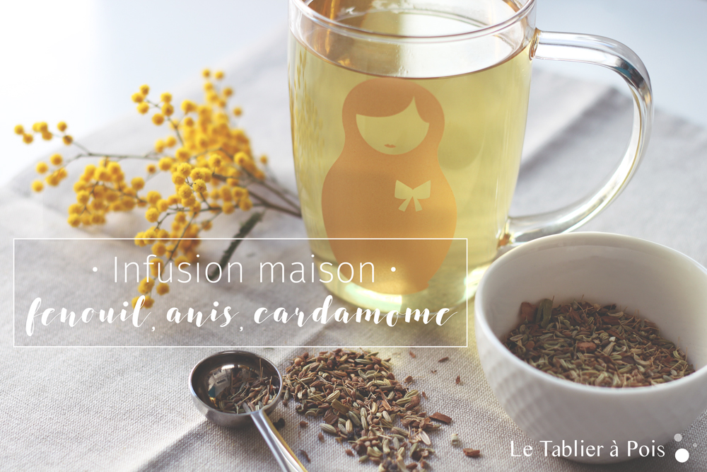 Recette infusion digestion facile fenouil, anis et cardamome